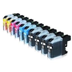 Logic-Seek 10 Tintenpatronen kompatibel zu Brother LC-225XL LC-227XL XL