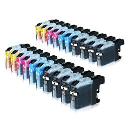 Logic-Seek 20 Tintenpatronen kompatibel zu Brother LC-225XL LC-227XL XL