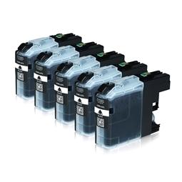 Logic-Seek 5 Tintenpatronen kompatibel zu Brother LC-227XLBK XL Schwarz