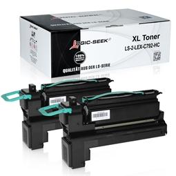 Logic-Seek 2 Toner kompatibel zu Lexmark C792 C792X2KG HC Schwarz
