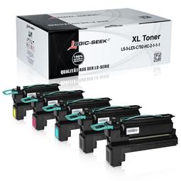 Logic-Seek 5 Toner kompatibel zu Lexmark C792 HC