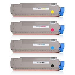 Logic-Seek 4 Toner kompatibel zu OKI C841 HC