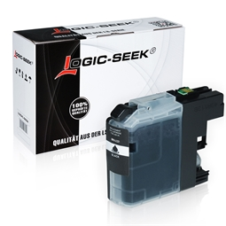 Logic-Seek  Tintenpatrone kompatibel zu Brother LC-221BK XL Schwarz