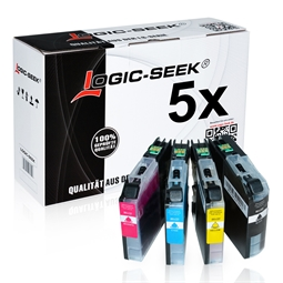 Logic-Seek 5 Tintenpatronen kompatibel zu Brother LC-221 XL