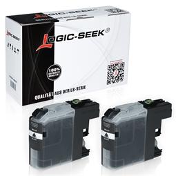 Logic-Seek 2 Tintenpatronen kompatibel zu Brother LC-221BK XL Schwarz