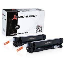 Logic-Seek 2 Toner kompatibel zu HP 201A CF400A HC Schwarz
