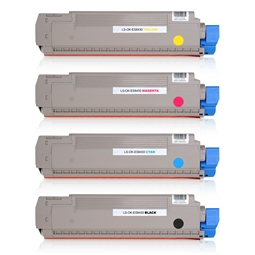 Logic-Seek 4 Toner kompatibel zu OKI ES8430 HC