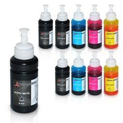 Logic-Seek 10 Tintenpatronen kompatibel zu Epson T6641-T6644 EcoTank XL