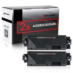 Logic-Seek 2 Toner kompatibel zu Kyocera TK-5140K 1T02NR0NL0 HC Schwarz