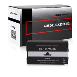Logic-Seek  Tintenpatrone kompatibel zu HP 957XL L0R40AE XXL Schwarz