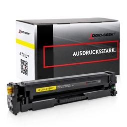 Logic-Seek  Toner kompatibel zu Canon Cartridge 045H 1243C002 UHC Yellow