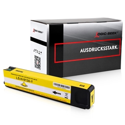 Logic-Seek  Tintenpatrone kompatibel zu HP 913A T6M11AE XL Yellow