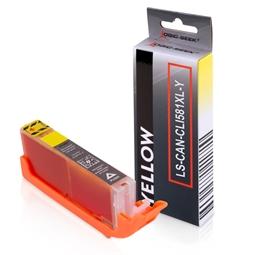 Logic-Seek  Tintenpatrone kompatibel zu Canon CLI-581YXXL 1997C001 XXL Yellow