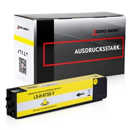 Logic-Seek  Tintenpatrone kompatibel zu HP 973X F6T83AE XL Yellow