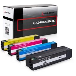 Logic-Seek 4 Tintenpatronen kompatibel zu HP 973X XL