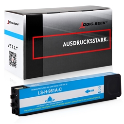 Logic-Seek  Tintenpatrone kompatibel zu HP 981A J3M68A Cyan