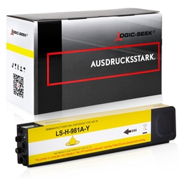 Logic-Seek  Tintenpatrone kompatibel zu HP 981A J3M70A Yellow