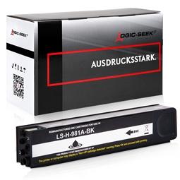 Logic-Seek  Tintenpatrone kompatibel zu HP 981A J3M71A Schwarz
