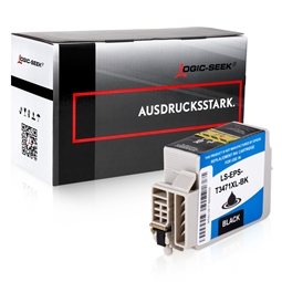 Logic-Seek  Tintenpatrone kompatibel zu Epson Pro WF3720 34XL C13T34714010 XL Schwarz