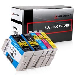 Logic-Seek 5 Tintenpatronen kompatibel zu Epson T3471XL-T3474XL Pro WF3720 XL