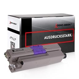 Logic-Seek  Toner kompatibel zu OKI C332 46508712 HC Schwarz