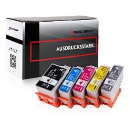 Logic-Seek 5 Tintenpatronen kompatibel zu Epson XP-6005 XXL