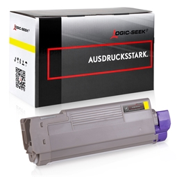 Logic-Seek  Toner kompatibel zu OKI C612 46507505 HC Yellow