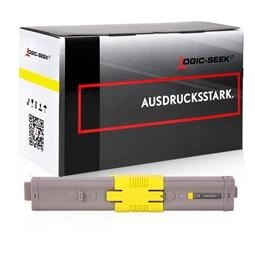 Logic-Seek  Toner kompatibel zu OKI C532 46490605 HC Yellow