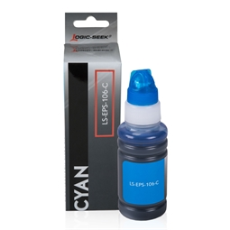 Logic-Seek  Tintenpatrone kompatibel zu Epson EcoTank 106 C13T00R240 XL Cyan