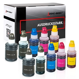Logic-Seek 10 Tintenpatronen kompatibel zu Epson EcoTank XL