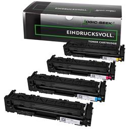 Logic-Seek Green 4 Toner kompatibel zu HP CF540A-CF543A HC