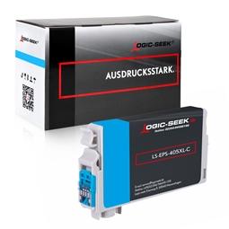 Logic-Seek  Tintenpatrone kompatibel zu Epson 405XL C13T05H24010 XL Cyan