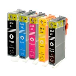 Logic-Seek 5 Tintenpatronen kompatibel zu HP 364 XL
