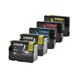 Logic-Seek 5 Tintenpatronen kompatibel zu HP 932 933 XL