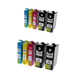 Logic-Seek 10 Tintenpatronen kompatibel zu Epson T1301-T1304 XL