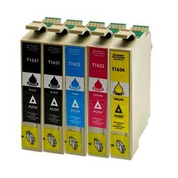 Logic-Seek 5 Tintenpatronen kompatibel zu Epson 16XL XL