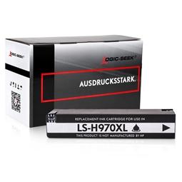 Logic-Seek  Tintenpatrone kompatibel zu HP 970XL CN625AE XL Schwarz