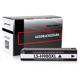 Logic-Seek  Tintenpatrone kompatibel zu HP 980 D8J10A XL Schwarz