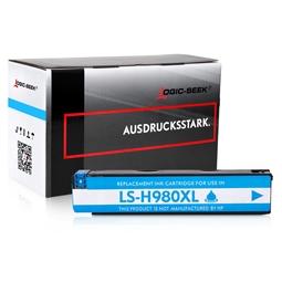 Logic-Seek  Tintenpatrone kompatibel zu HP 980 D8J07A XL Cyan