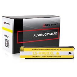 Logic-Seek  Tintenpatrone kompatibel zu HP 980 D8J09A XL Yellow