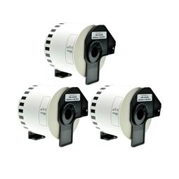 Logic-Seek 3x Etiketten kompatibel zu Brother DK-22205, 62mm x 30.48m