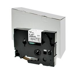 Logic-Seek 1x Schriftband kompatibel zu Brother TZE-231, Schwarz auf Weiss, 12mm x 8m
