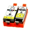 Logic-Seek 2 Tintenpatronen kompatibel zu Canon PGI-35BK CLI-36 XL