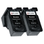Logic-Seek 2 Tintenpatronen kompatibel zu Canon PG-510 2970B001 XL Schwarz