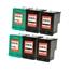 Logic-Seek 6 Tintenpatronen kompatibel zu HP 338 343 XL