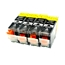 Logic-Seek 4 Tintenpatronen kompatibel zu Canon PGI-5BK 0628B001 XL Schwarz