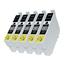 Logic-Seek 5 Tintenpatronen kompatibel zu Epson Stylus XP205 18XL C13T18114010 XL Schwarz