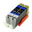 Logic-Seek 2 Tintenpatronen kompatibel zu Canon CLI-551BKXL 6443B001 XL Schwarz