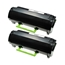 Logic-Seek 2 Toner kompatibel zu Lexmark MX710 MX810 620HA 62D0HA0 HC Schwarz