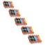 Logic-Seek 25 Tintenpatronen kompatibel zu Canon PGI-550 CLI-551 XL